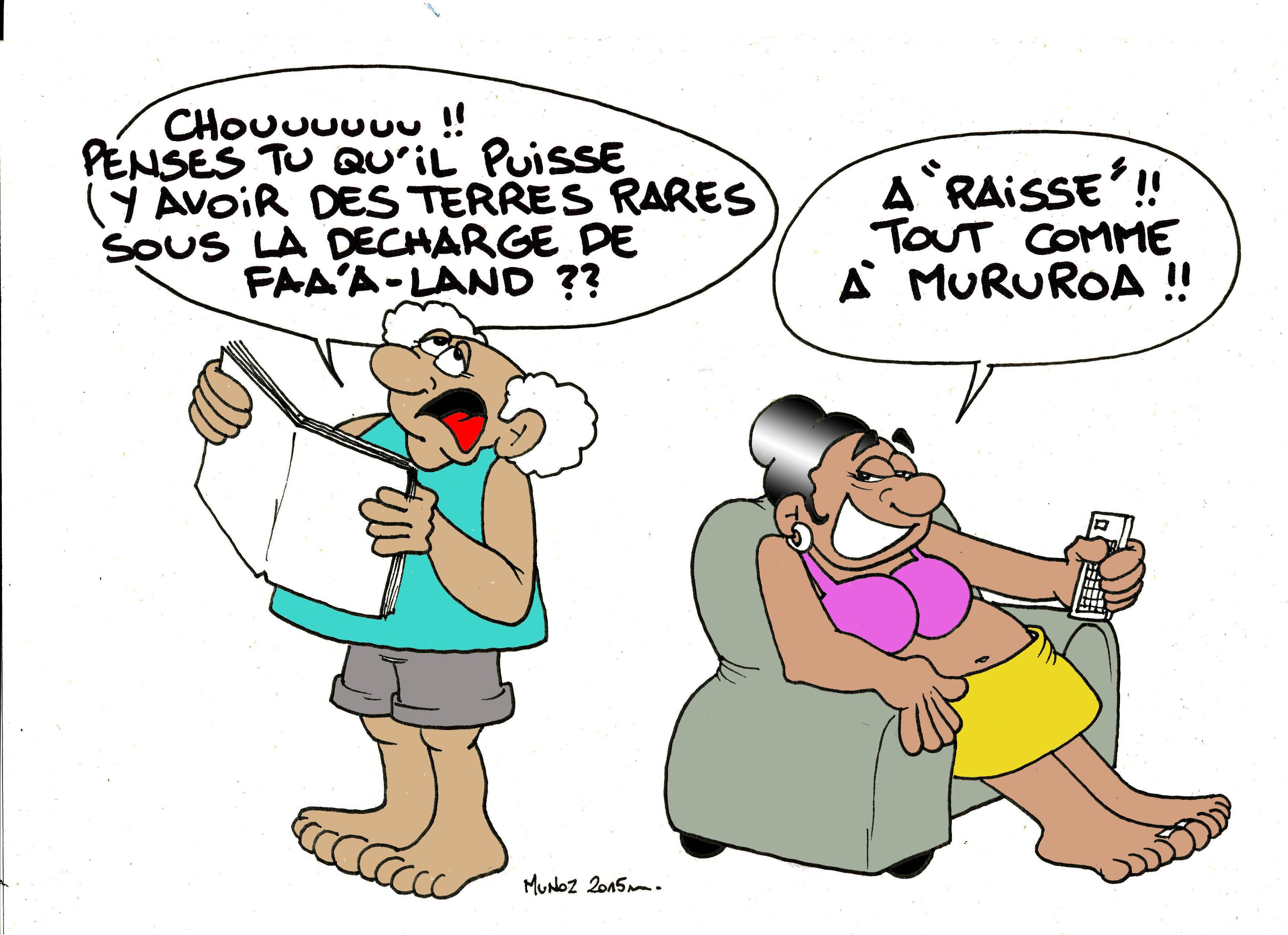 """""""Terres rares, la polémique"""" vu par Munoz"""