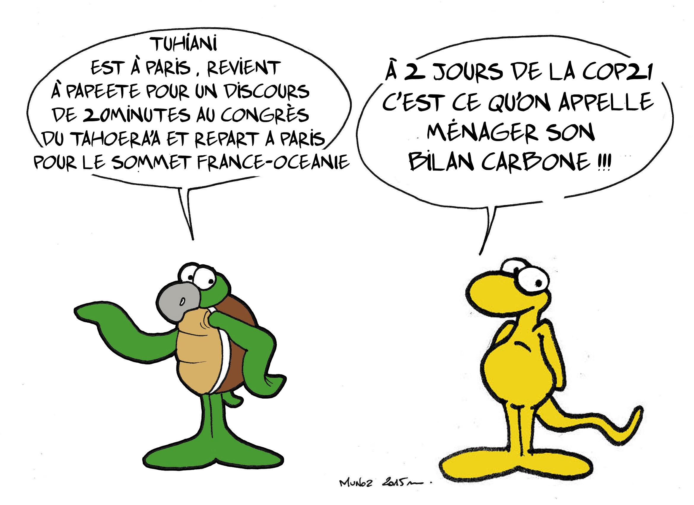 """""""Tuihani à la COP 21"""" par Munoz"""