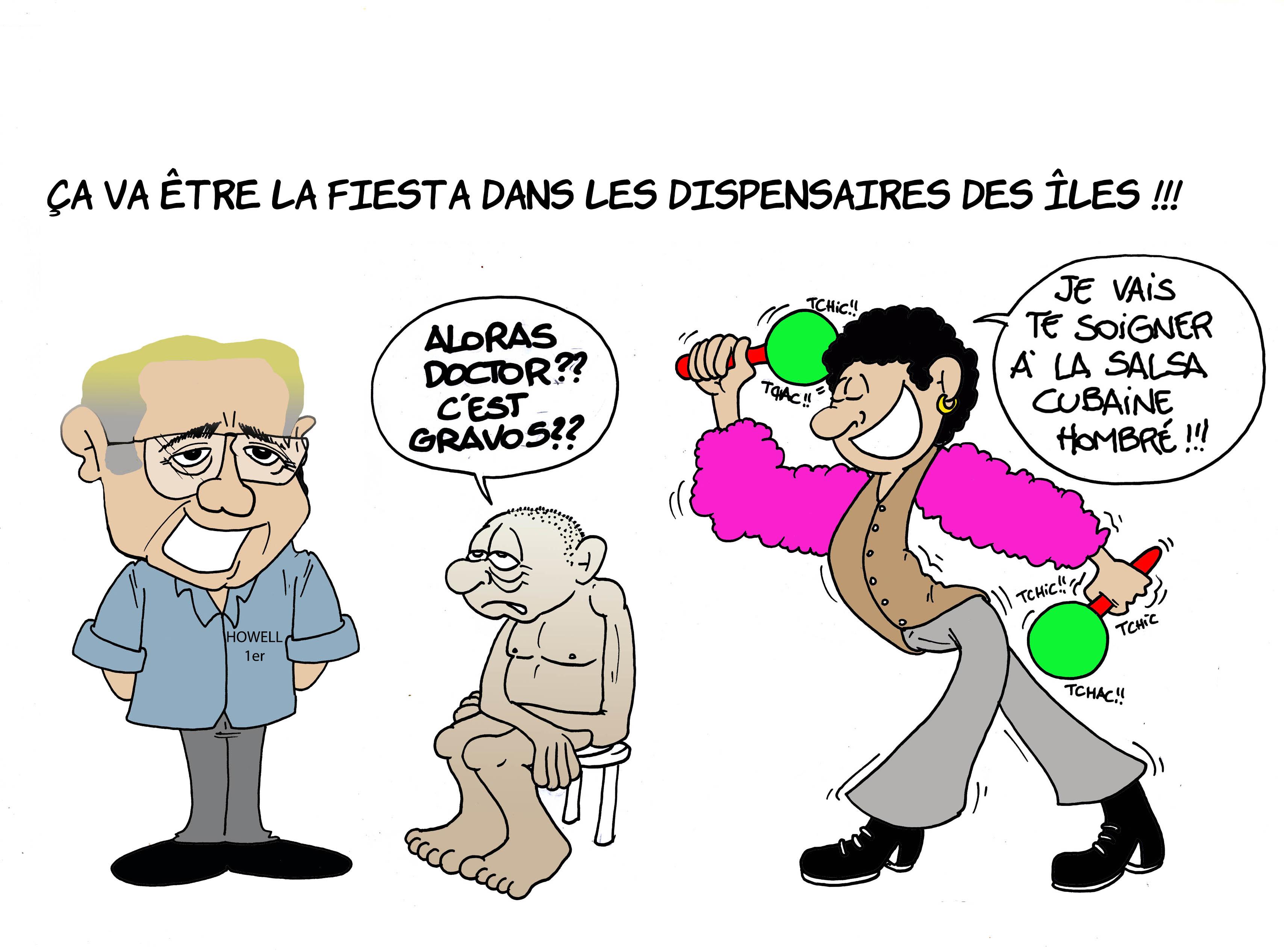 """""""Les médecins cubains à Tahiti"""" par Munoz"""