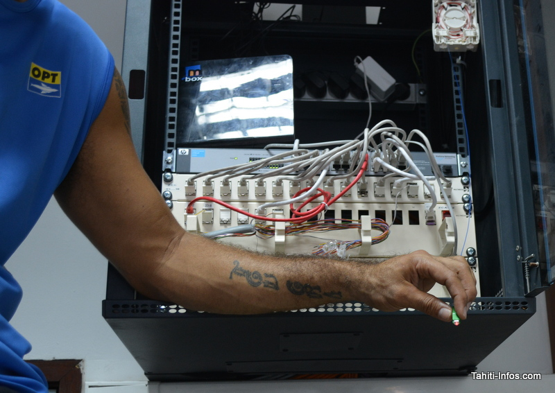 Une installation fibre optique
