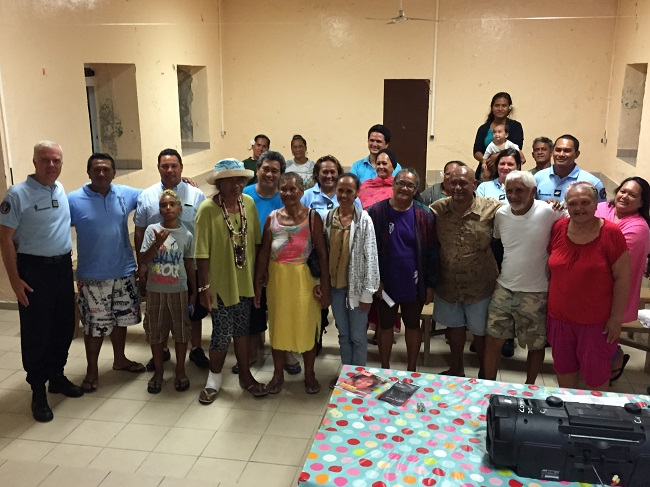 La BPDJ est restée quelques jours sur l'atoll de Hao.