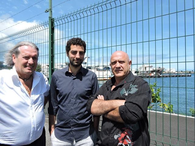 Depuis vendredi, Thierry Bruant de Merapi Production et Mehdi Sabbar de Big Band Story sont au fenua pour préparer l'adaptation des romans de Patrice Guirao.