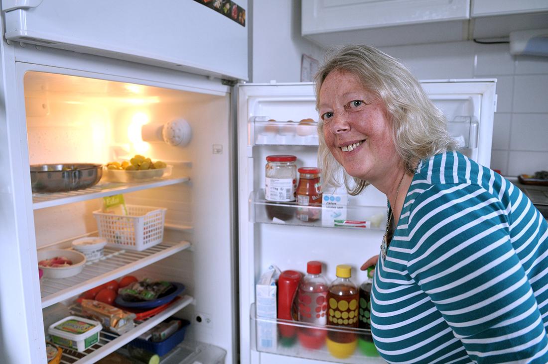 """Andrée Nieuwjaer, dont la famille fait partie des 101 foyers ayant relevé le défi """"Zéro déchet""""."""