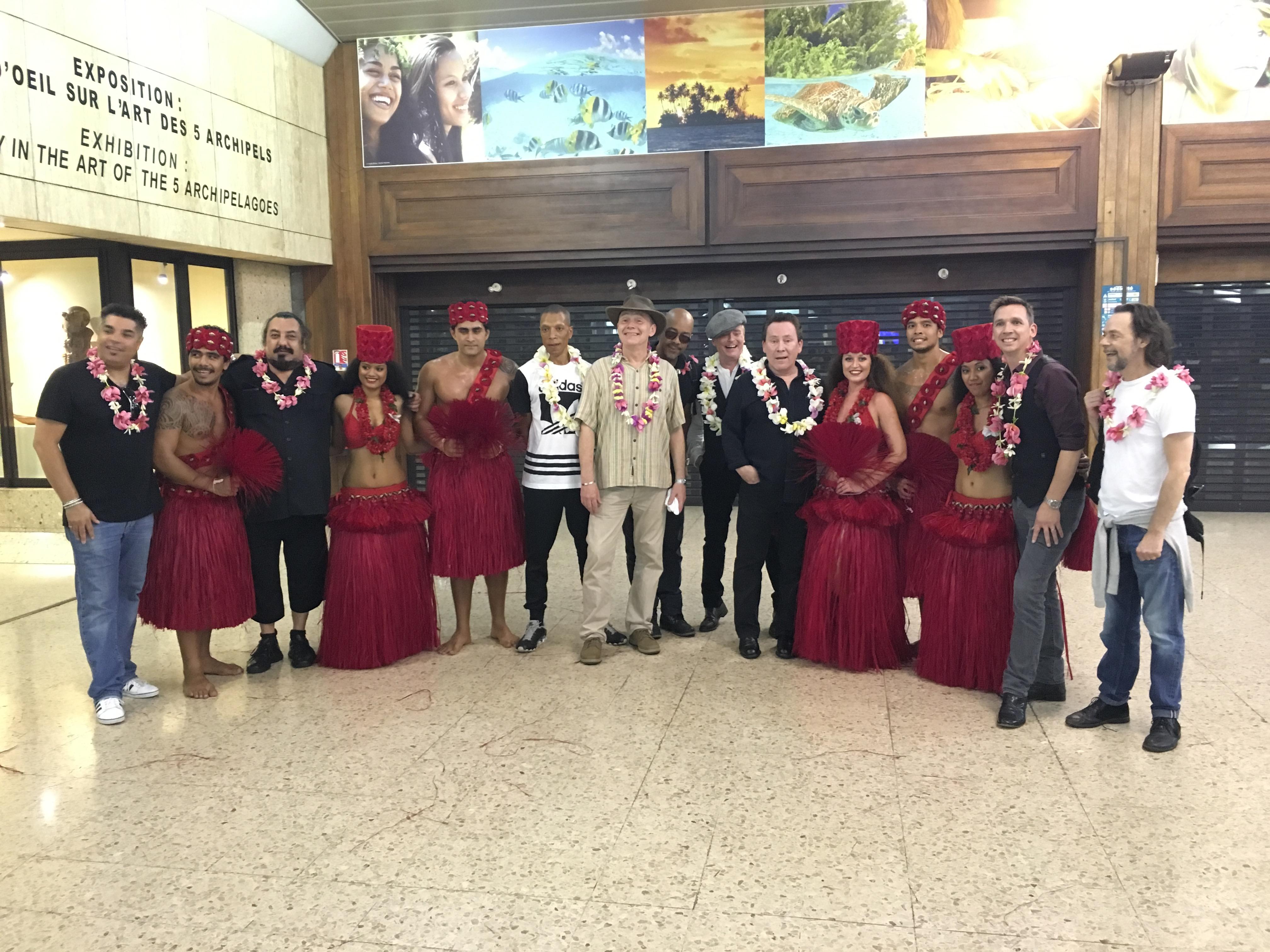 Les membres de UB40 sont arrivés hier soir à Tahiti.