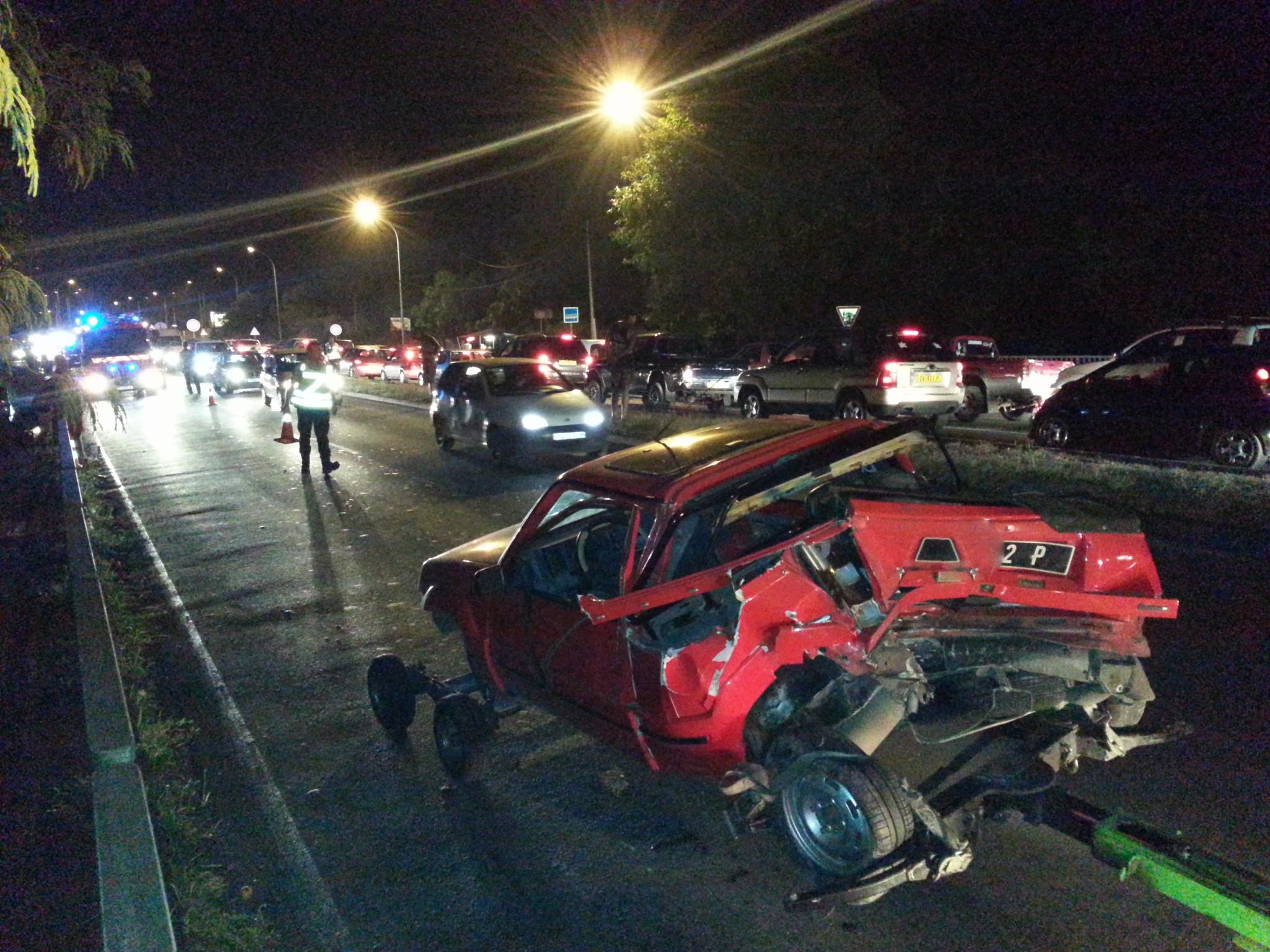 L'accident n'a fait qu'un blessé léger, selon les premières informations sur place.