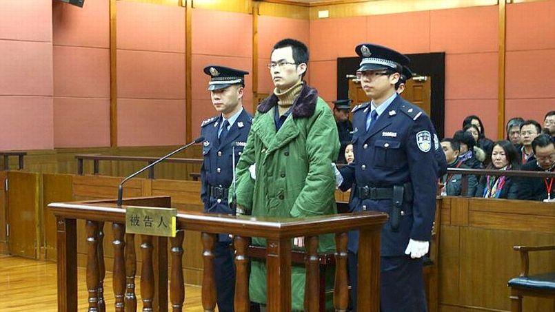 L'empoisonneur Lin Senhao lors de son procès. ( AFP PHOTO / THE SHANGHAI NUMBER TWO COURT)