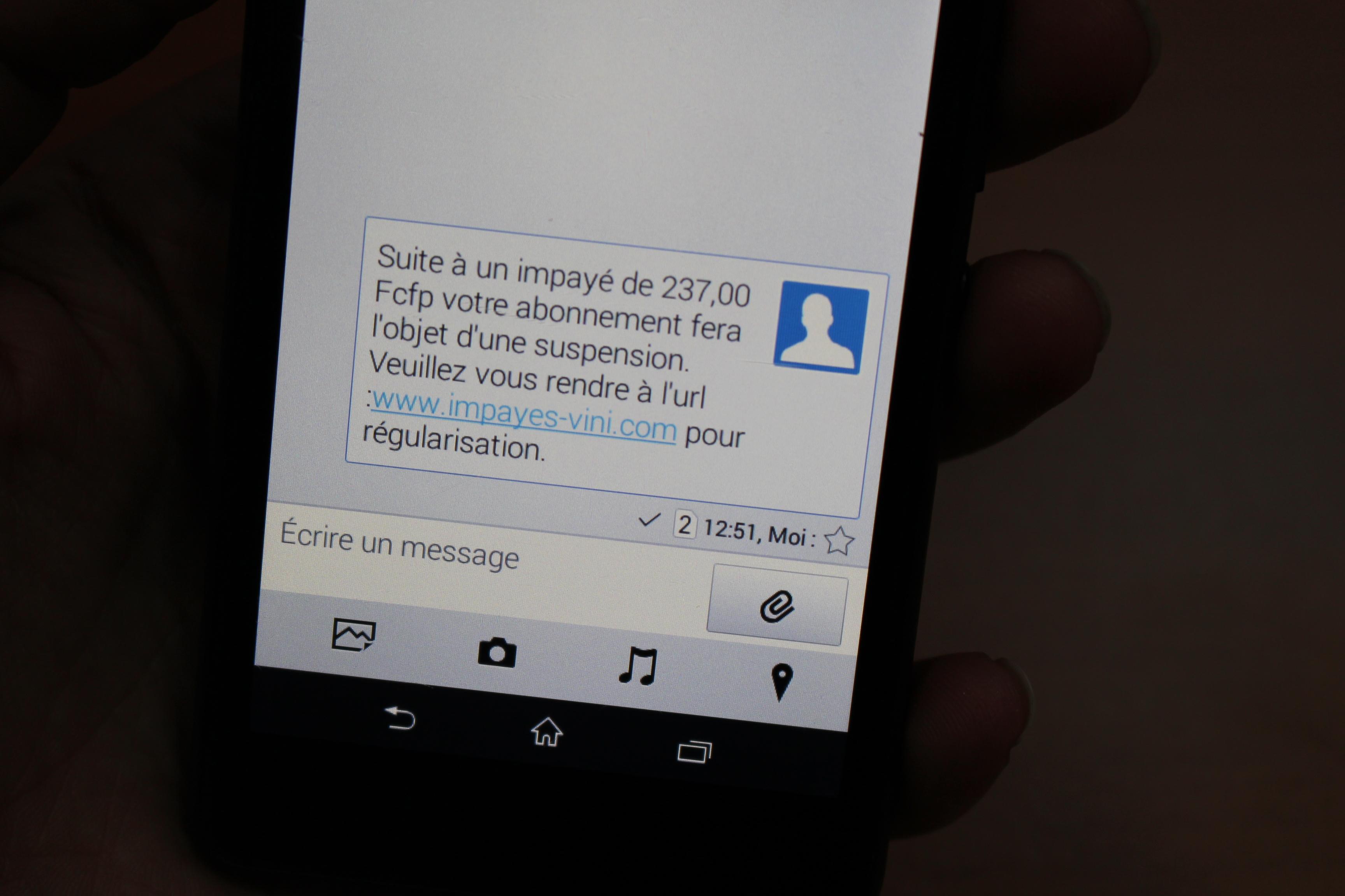 Attention ! Fraude par SMS