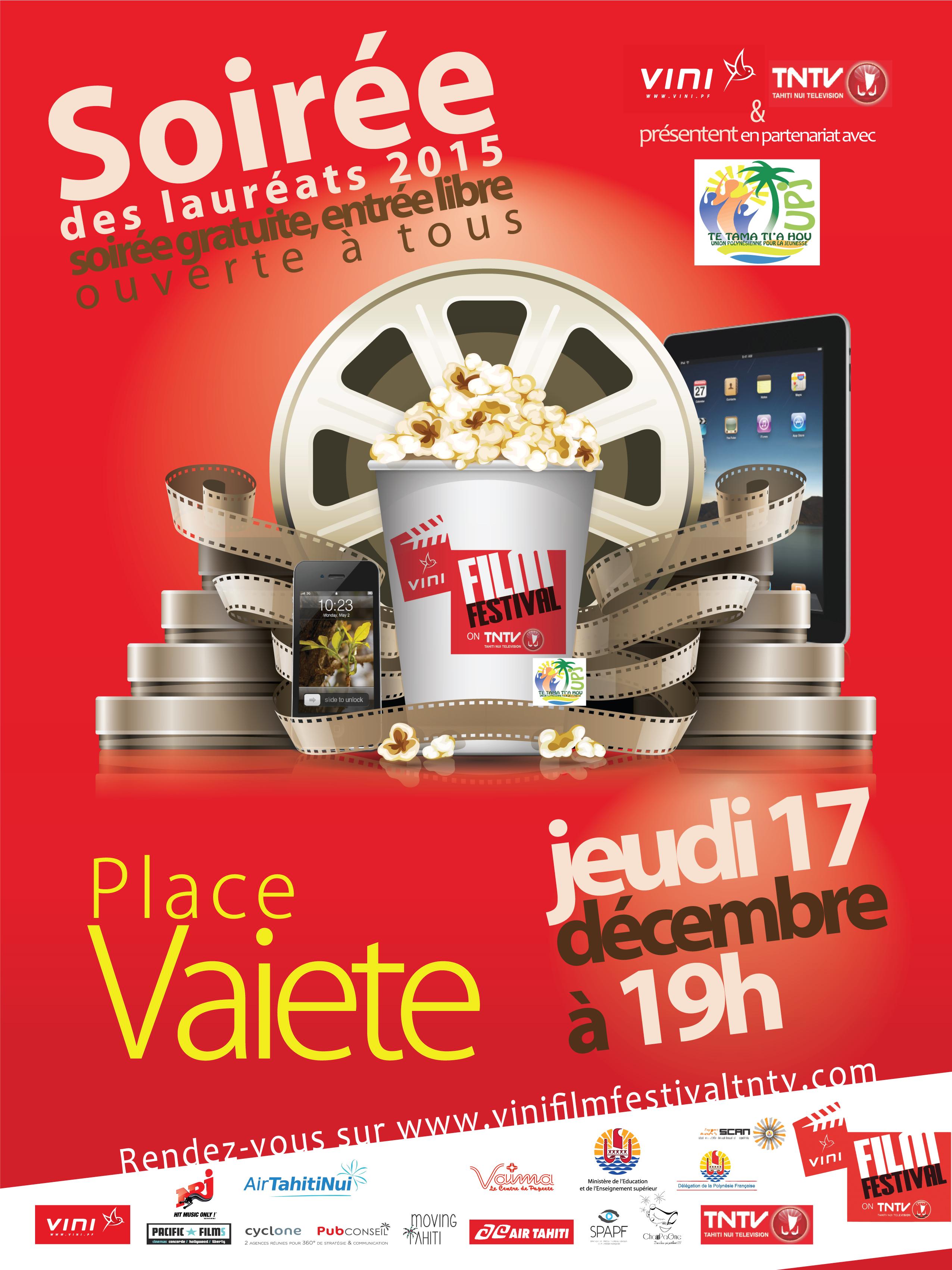 Vini film festival on TNTV : les lauréats révélés demain soir place Vaiete