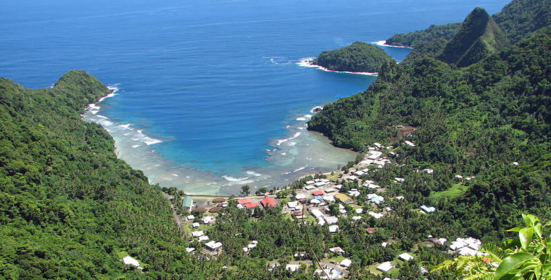 Afono Bay in the American Samoa National Park. One of the many bays in the park...