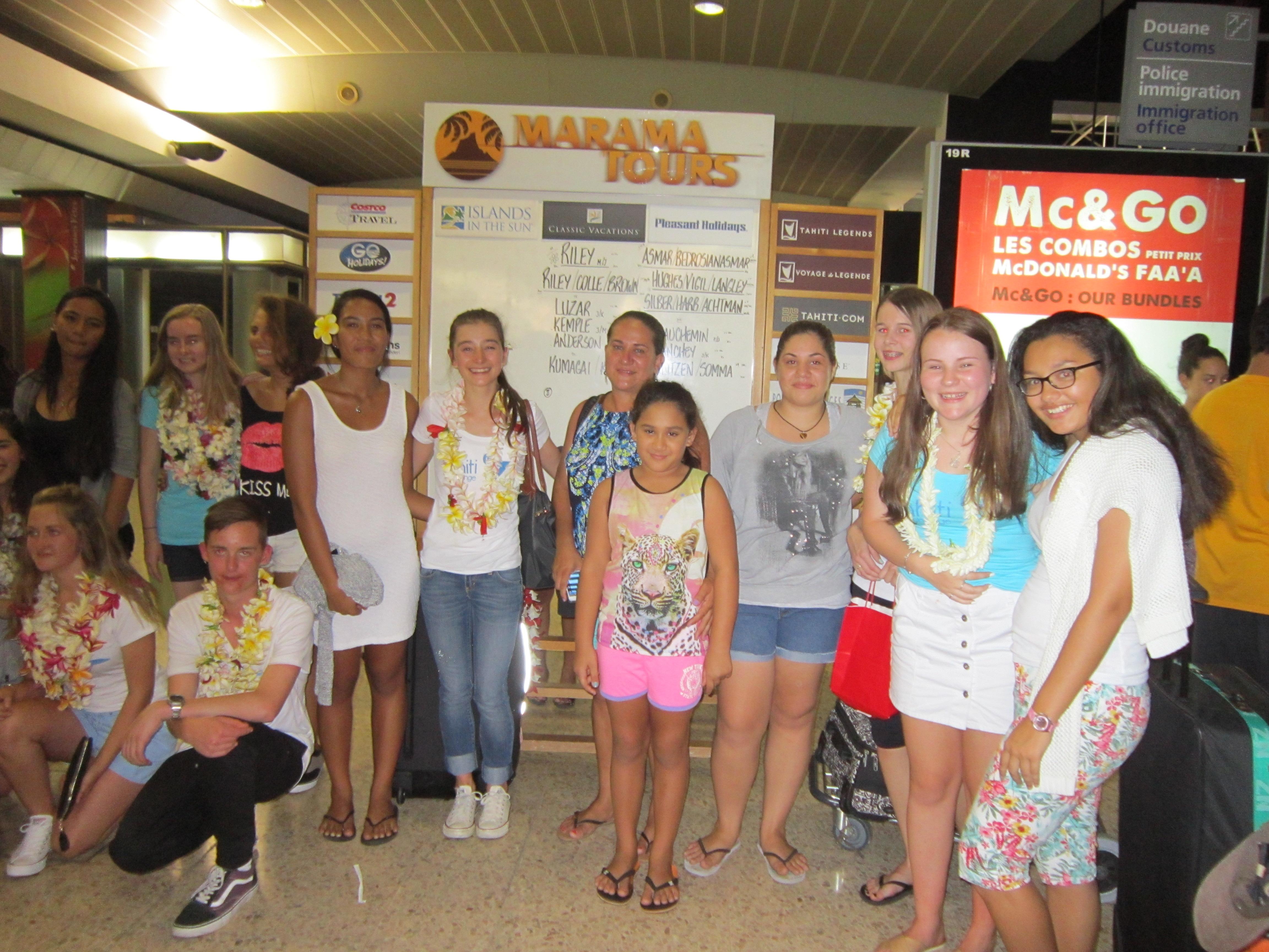 19 élèves néo-zélandais au fenua