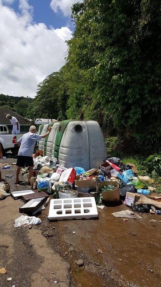 Cette photo a été prise dimanche par un habitant de Papenoo pour dénoncer l'incivisme de la population