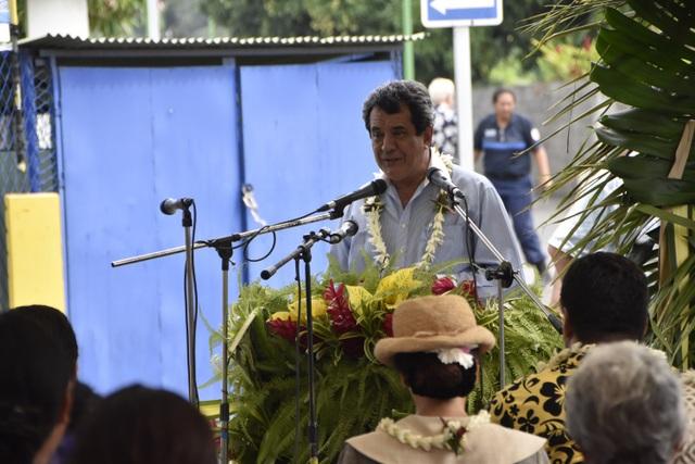 Dans son discours, le Président du Pays Edouard Fritch a retracé en reo tahiti l'histoire des télécoms en Polynésie.