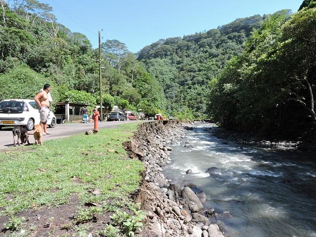 La vallée de Ahonu avait été très touchée par les fortes pluies le 12 décembre dernier.