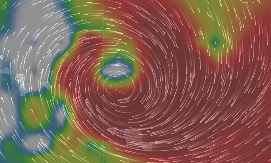 Sur le site internet Windyty.com, des vents à 45 kt (83 km/h) avec des rafales à 55 kt (102 km/h) sont annoncés pour la nuit du vendredi 15 au samedi 16 janvier