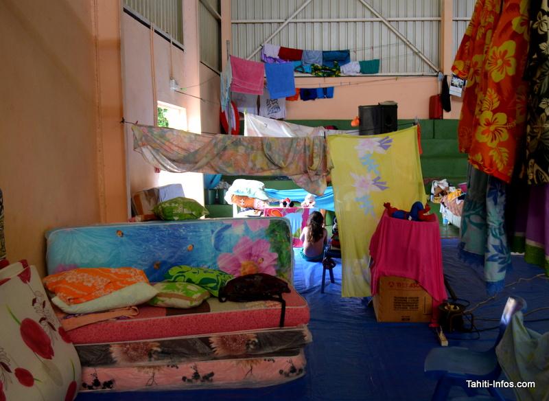 Les sinistrés de Tiarei organisés comme un camp de réfugiés