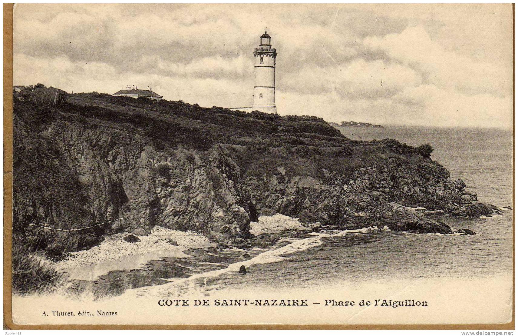 Le phare de l'Aiguillon, près de Saint-Nazaire. C'est ici, dans la solitude, que Narcisse finit sa vie, âgé d'à peine 50 ans, marié, mais resté sans enfant.