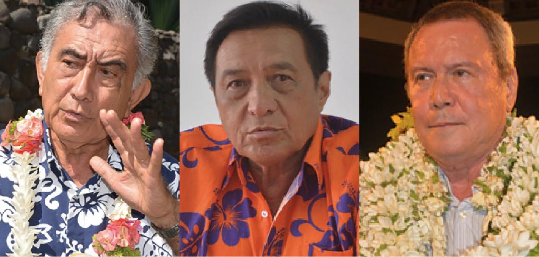 Oscar Temaru, Michel Buillard et Rony Tumahai sont les trois maires polynésiens dont les déclarations d'intérêt ont été publiées fin décembre dernier sur la Haute autorité de la transparence de la vie publique.