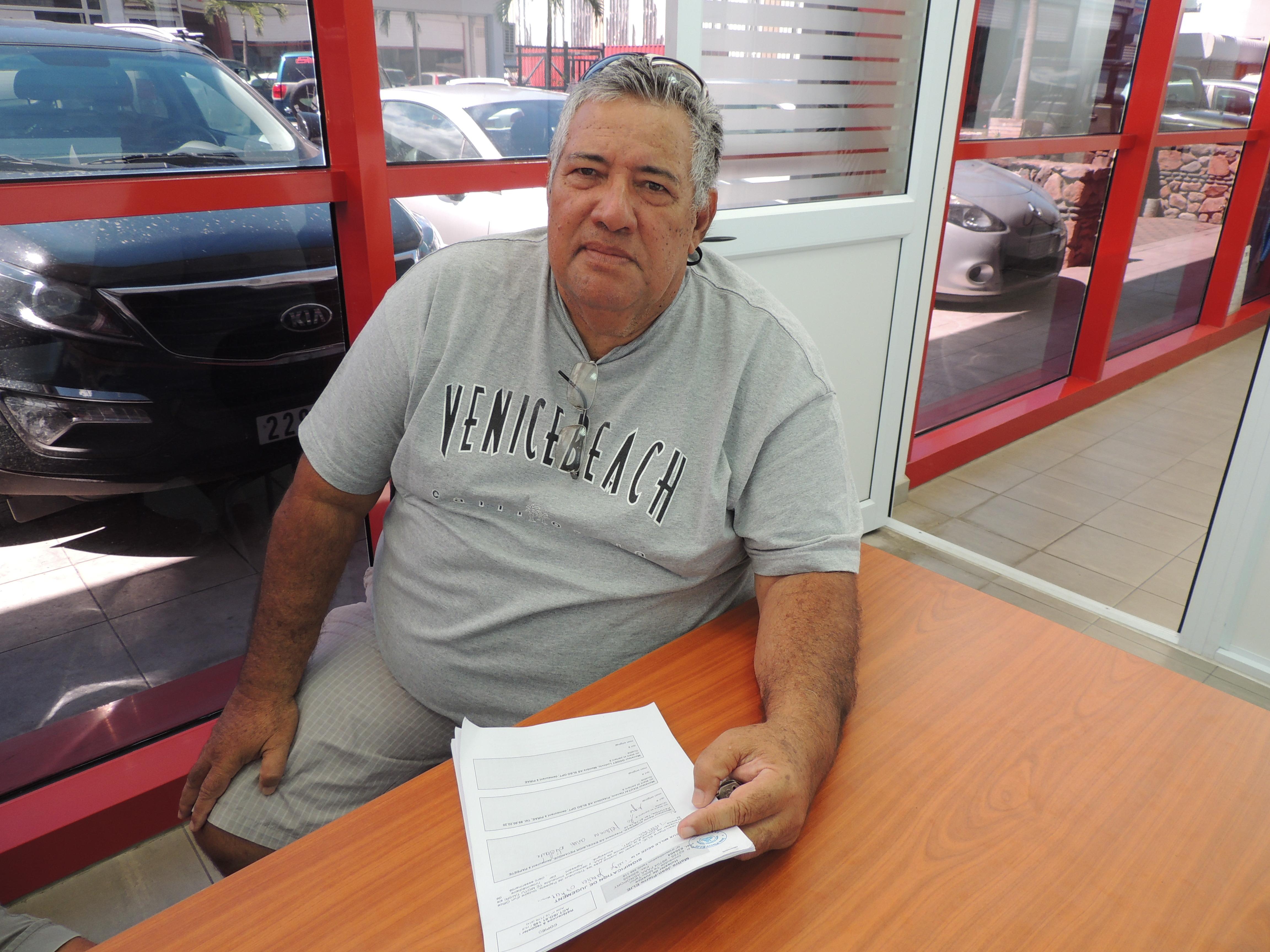 Rémy Aumeran a été signifié ce mercredi matin de la décision de justice rendue le 23 décembre dernier