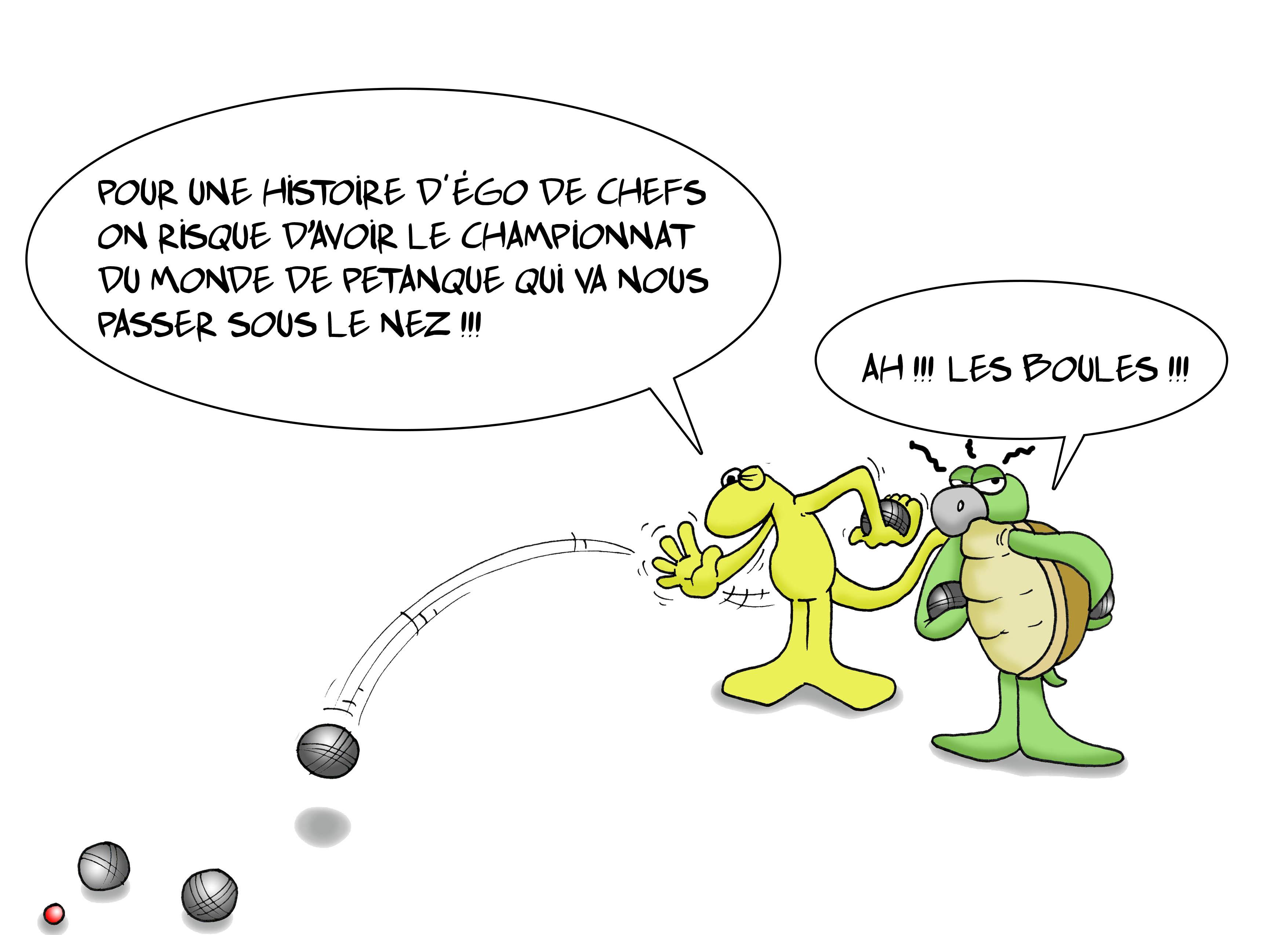 """""""Pétanque : La fédé a les boules"""" par Munoz"""