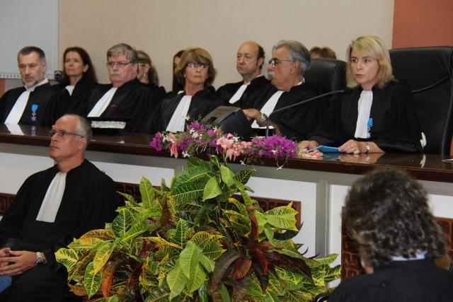 Le tribunal de première instance vendredi lors de l'audience solennelle de rentrée de la cour d'appel de Papeete.