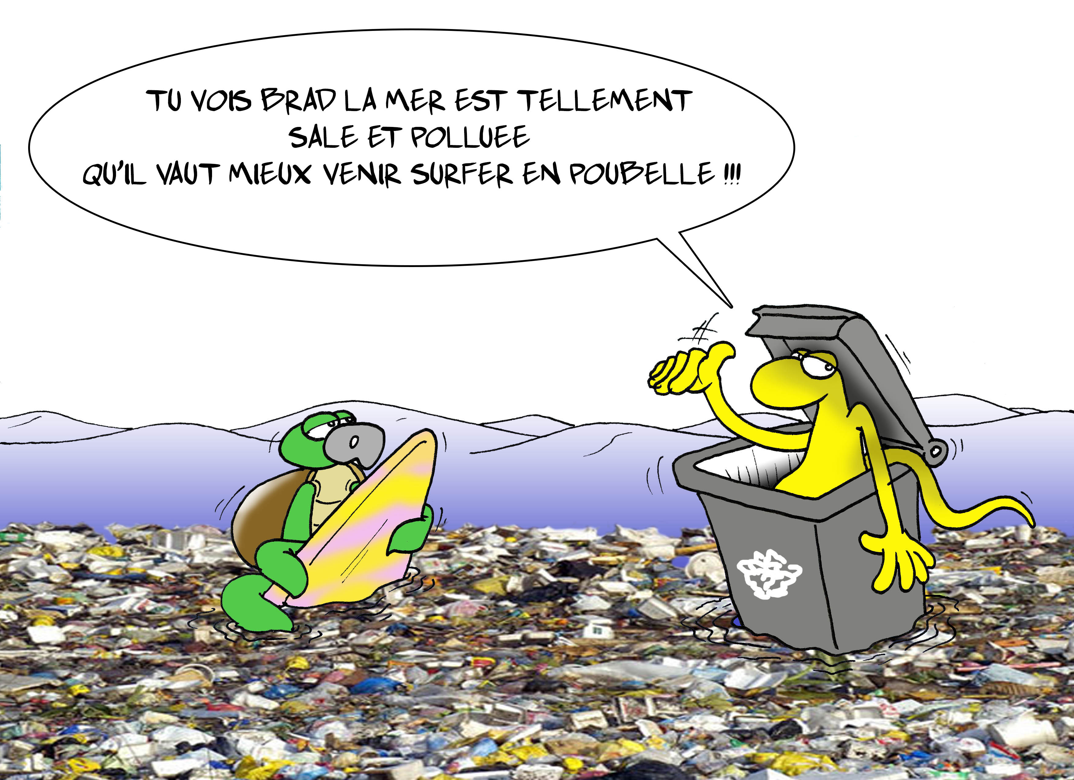 """Pollution des eaux de baignades"" par Munoz"