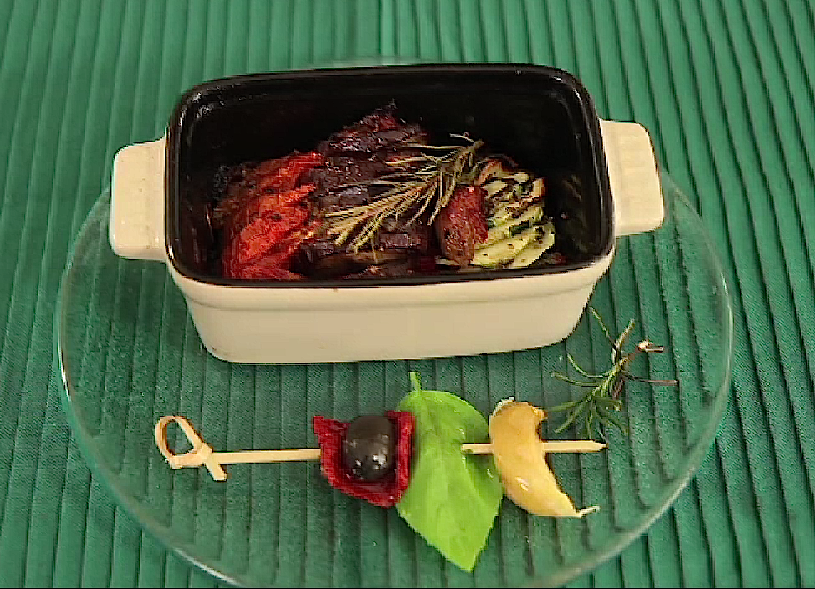 Flan de légumes aux courgettes