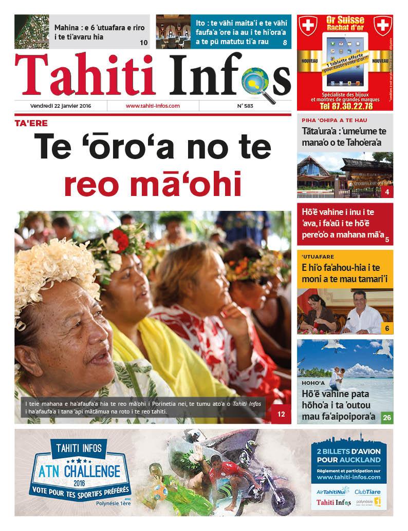 Journée des langues polynésiennes: Tahiti Infos fait sa UNE en tahitien