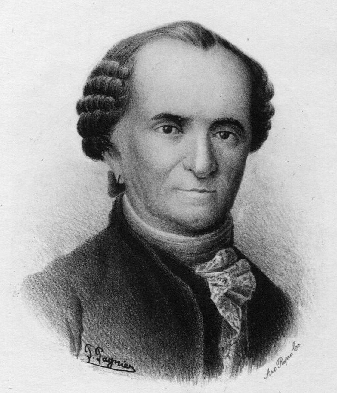 """Philibert Commerson, le botaniste du roi qui embarqua Jeanne, devenu son valet """"Jean Baré""""."""