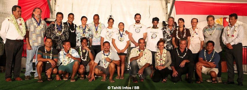 Presque toute la grande famille du surf polynésien était réunie, pour la première fois