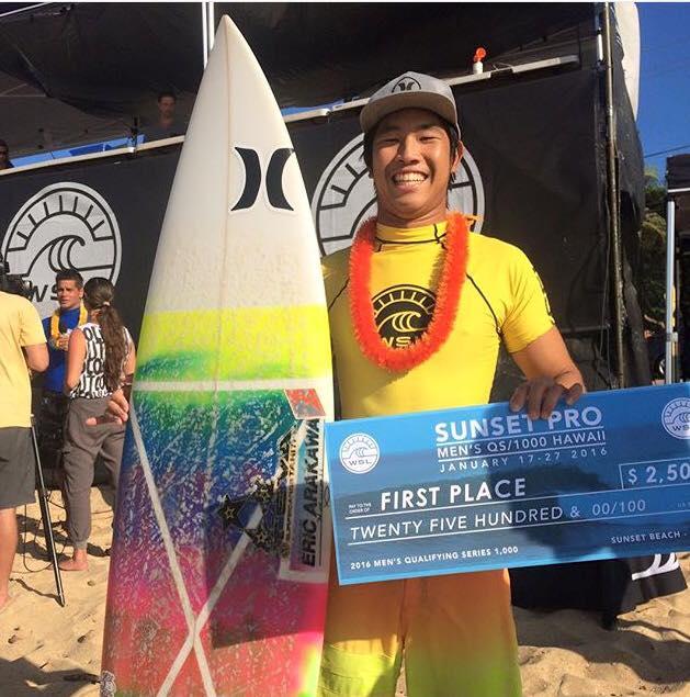 Keoni Yan, un des meilleurs espoirs du surf tahitien