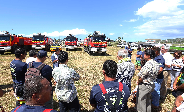 Réception de cinq camions de sauvetage et de lutte contre les incendies