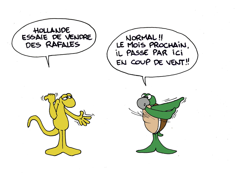 """""""Passage éclair de Hollande"""" par Munoz"""