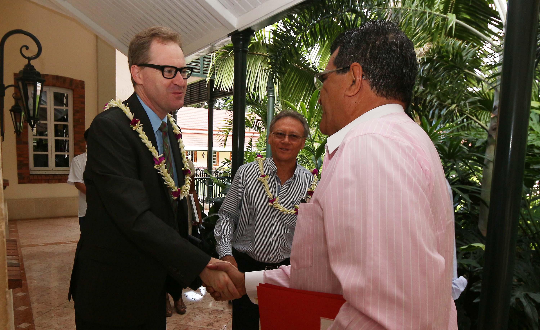 Le président reçoit le consul général d'Australie à Nouméa