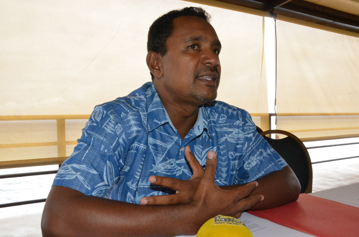 """Tearii Alpha, ministre du Logement, maire de la commune de Teva I Uta, fonde le comité polynésien du """"Cap AJ pour la France"""" pour soutenir Alain Juppé dans la course à la Présidentielle de 2017."""