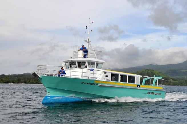 La future navette maritime des Marquises sud est construite en suivant les plans de celle qui est en service actuellement entre Anaa Faaite et Fakarava. Elle sera construite par le chantier naval Nautisport Industrie de Taravao.