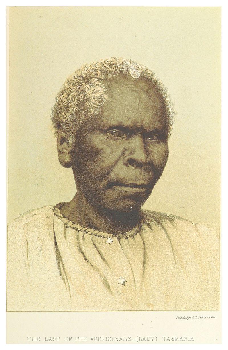 L'un des derniers portraits de Truganini, réalisé en 1871. Elle a alors 59 ou 60 ans.