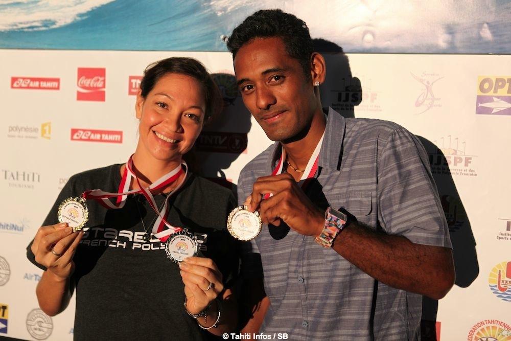 Hinarii Yiou et Niuhiti Buillard, ont reçu leurs médailles jeudi soir