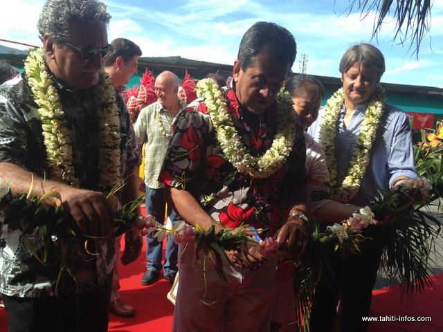 Le salon du tourisme a été inauguré par le Président du Pays, Edouard Fritch