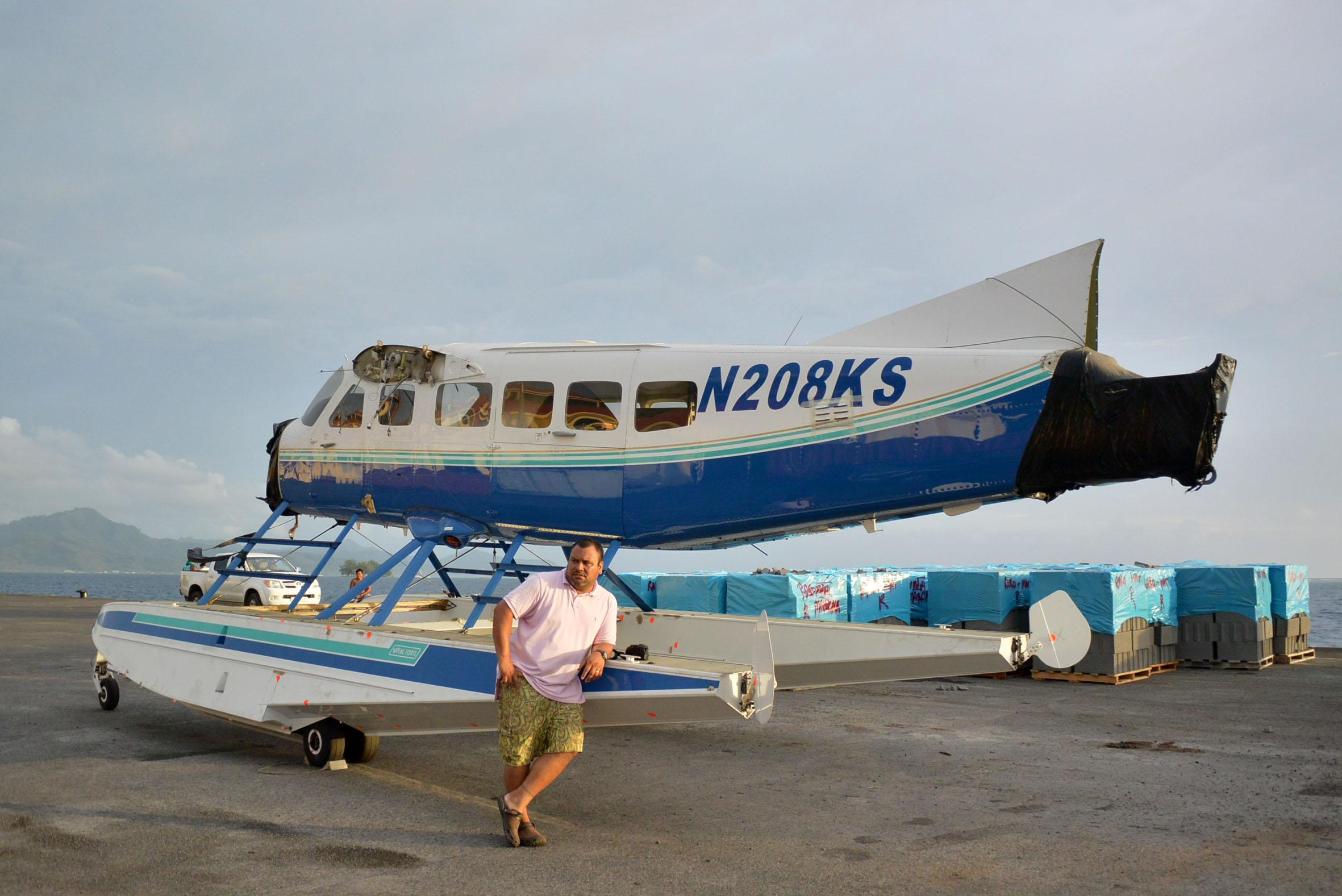 Convoi exceptionnel à Raiatea: L'hydravion de Tahiti Air Charter est arrivé !