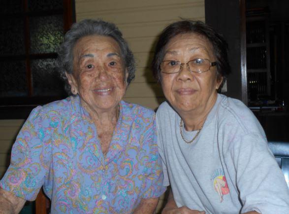 Mama Ayon et sa fille Evelyne