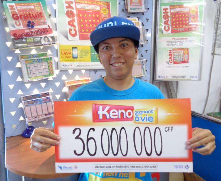 Une gagnante polynésienne empoche 36 Millions avec un 7/7 au Keno !