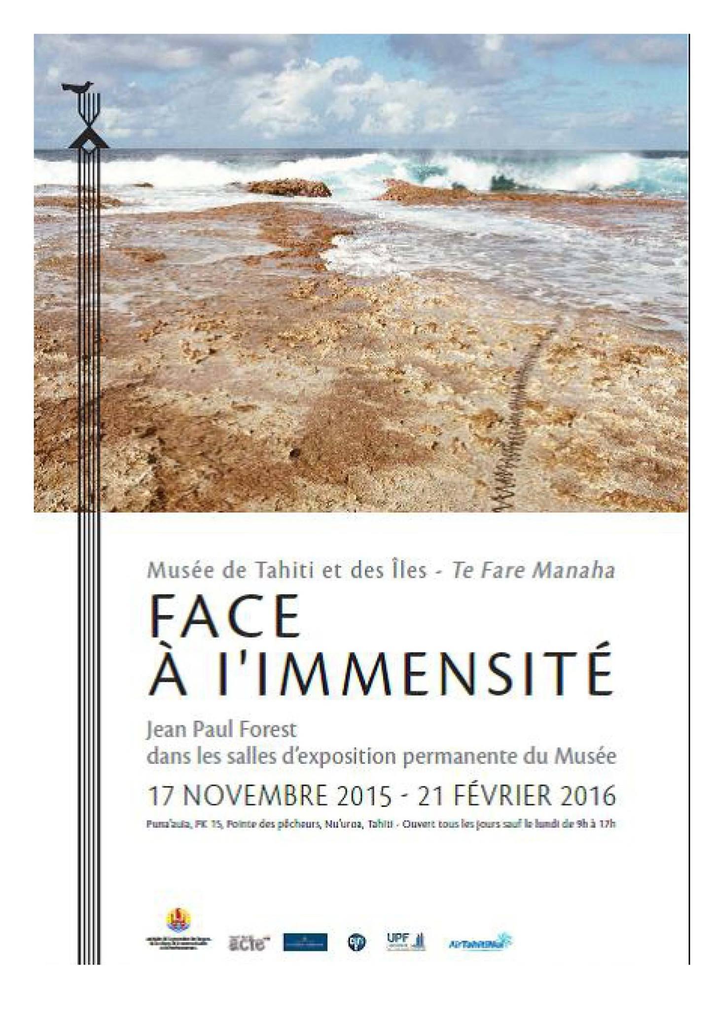 """Musée de Tahiti et des îles : L'exposition """"Face à l'immensité"""" durera jusqu'au 06 mars"""