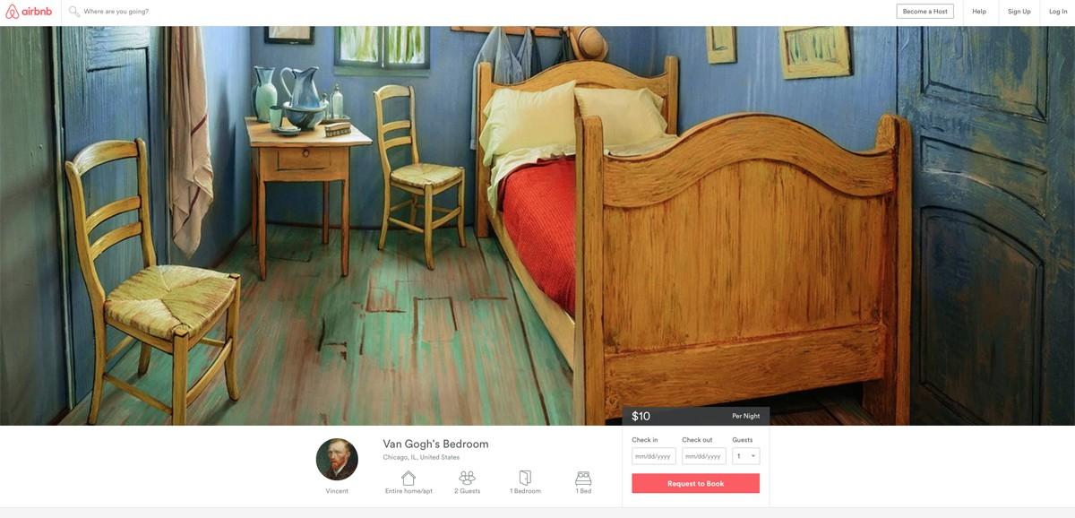 "USA: dormir dans ""La chambre de Van Gogh"" pour dix dollars la nuit"