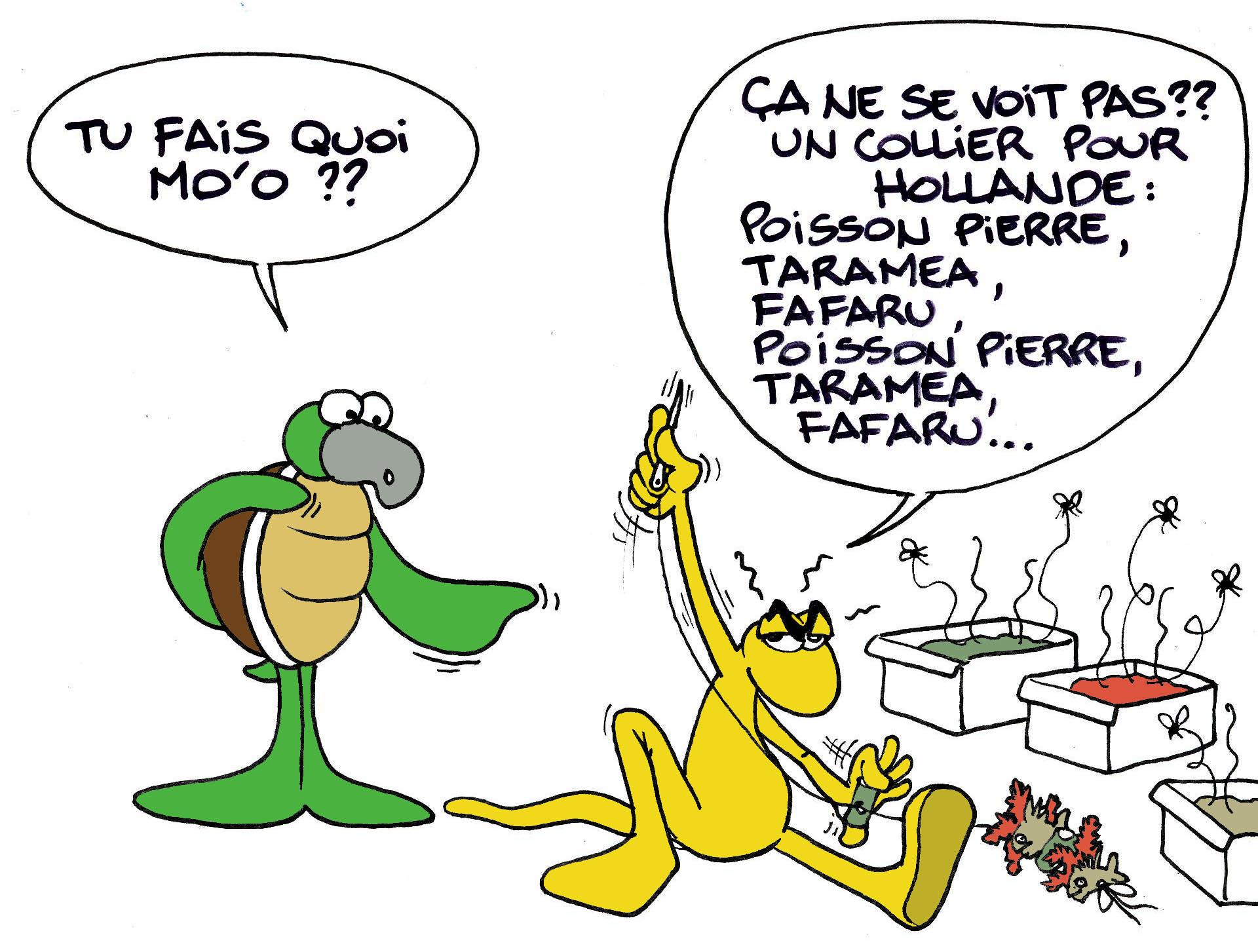 """""""Bienvenue Mr Hollande"""" par Munoz"""