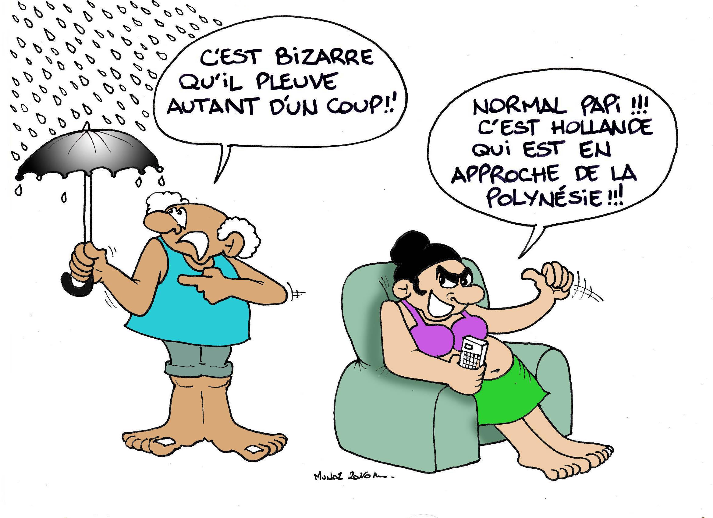 """""""Il pleut ! Hollande arrive !"""" par Munoz"""