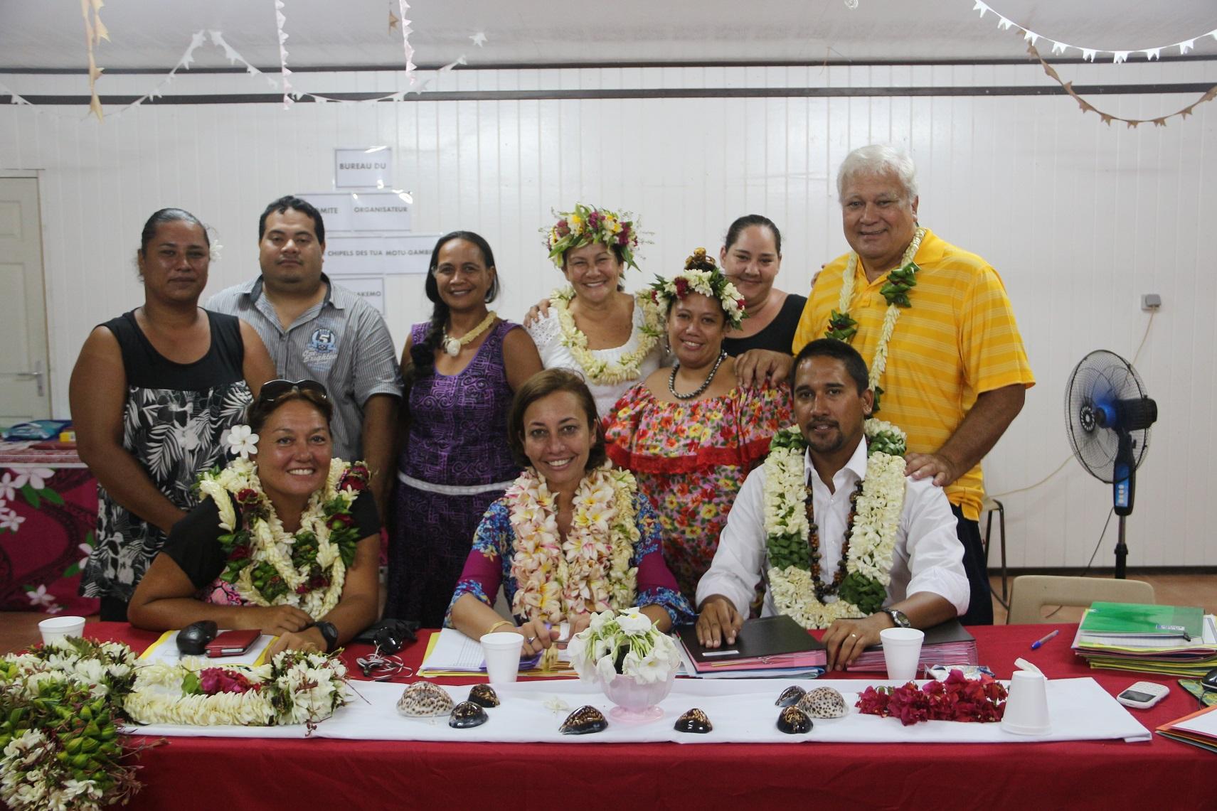 Le président du COL, Yves Nouveau, et la première adjointe au maire, Lydia Nouveau, en charge des jeux, ont interrogé la ministre sur les modalités d'organisation des Jeux inter-îles