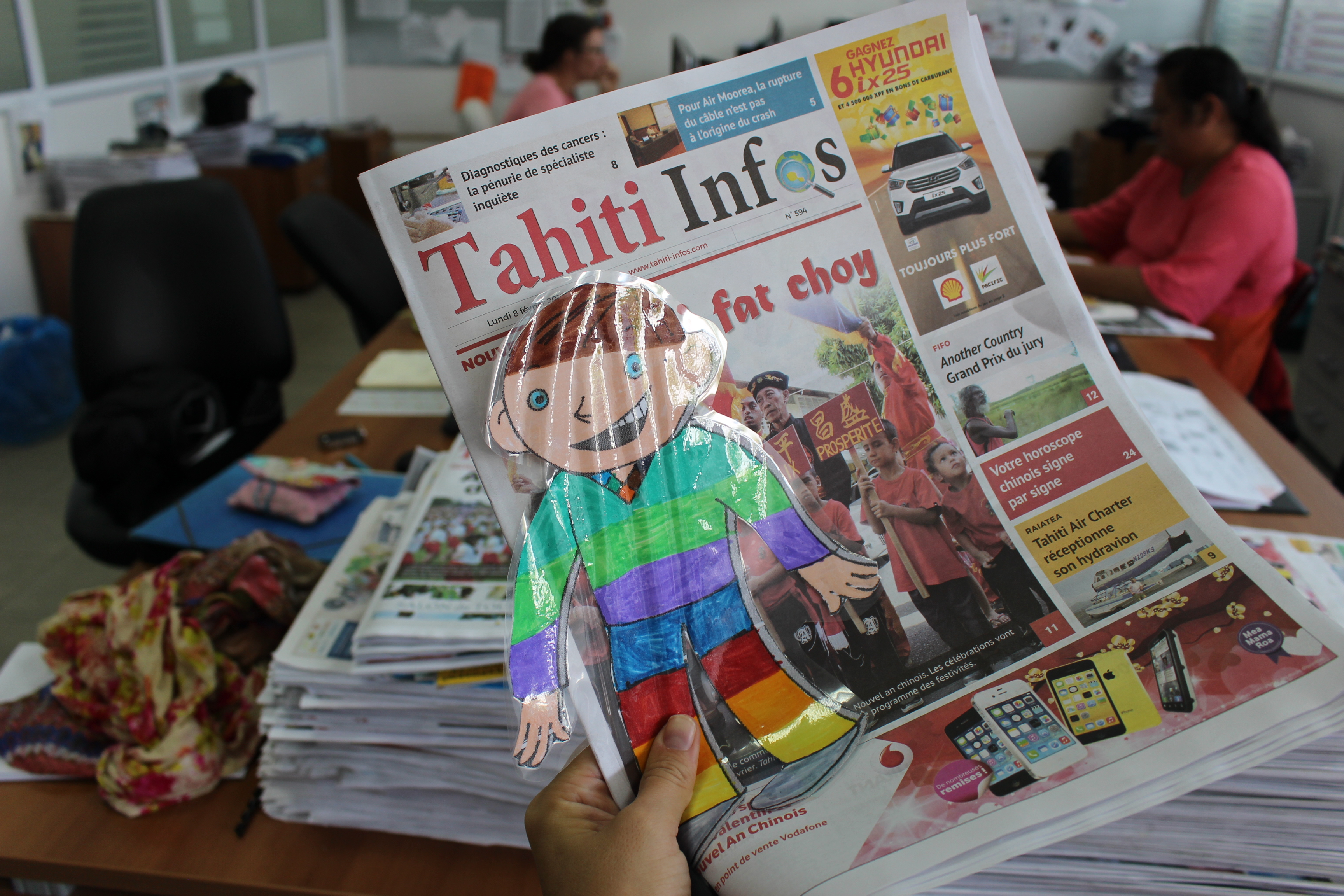 Clément Aplati est à Tahiti Infos