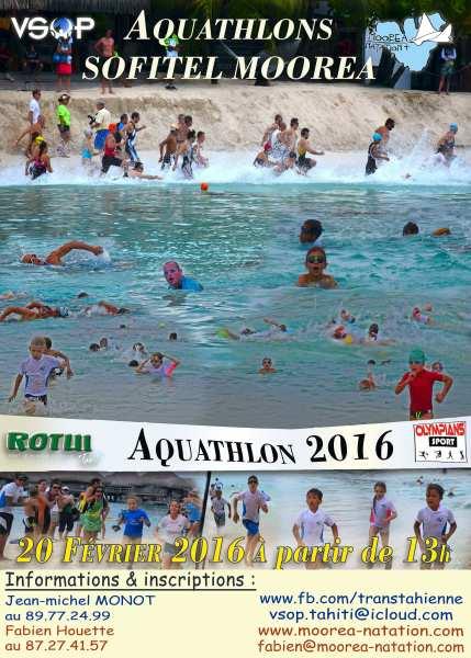Aquathlon 2016 : rendez-vous samedi au Sofitel Moorea à Temae