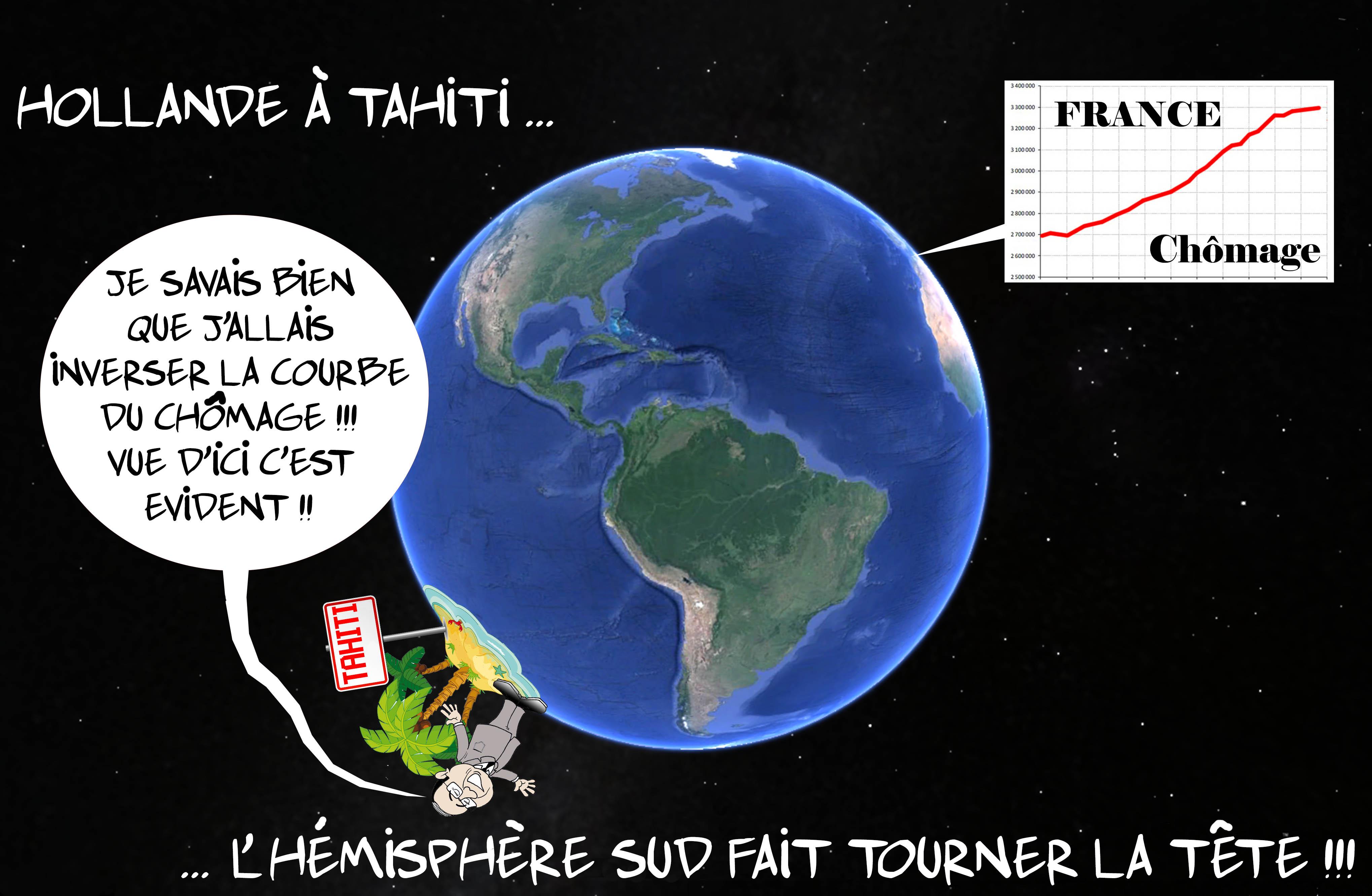 """Hollande à Tahiti"" par Munoz"