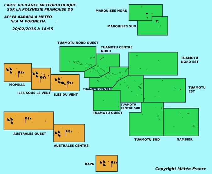 Cyclone à Fidji, vigilance orange en Polynésie, la plus grande prudence est requise